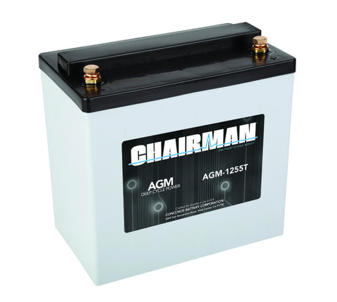 Chairman AGM-1255T - 12v - 55AH Deep Cycle Battery