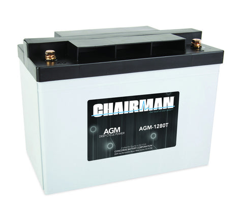 Chairman AGM-1280T - 12v - 80AH Deep Cycle Battery