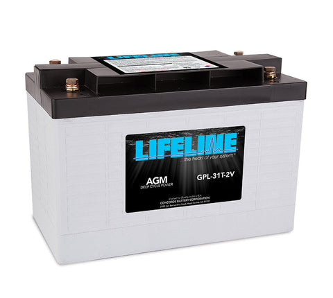 Lifeline GPL-31T-2V - 2v - 630AH Deep Cycle Battery