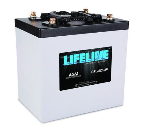 Lifeline GPL-4CT-2V - 2v - 660AH Deep Cycle Battery