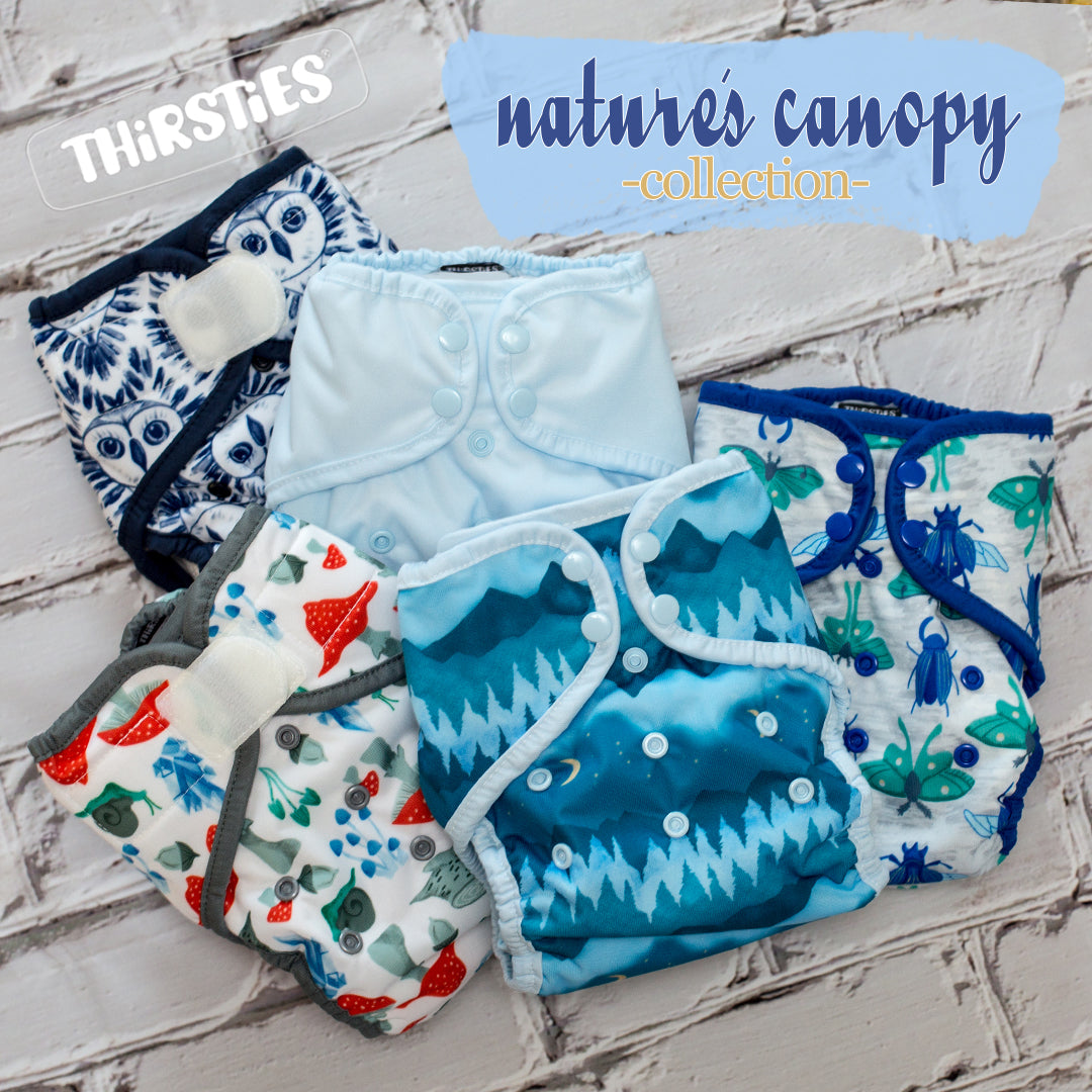 Thirsties Nature's Canopy Cloth Diaper Collection
