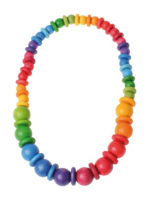Grimm's Rainbow Bead and Disk Necklace - Yellow Birch