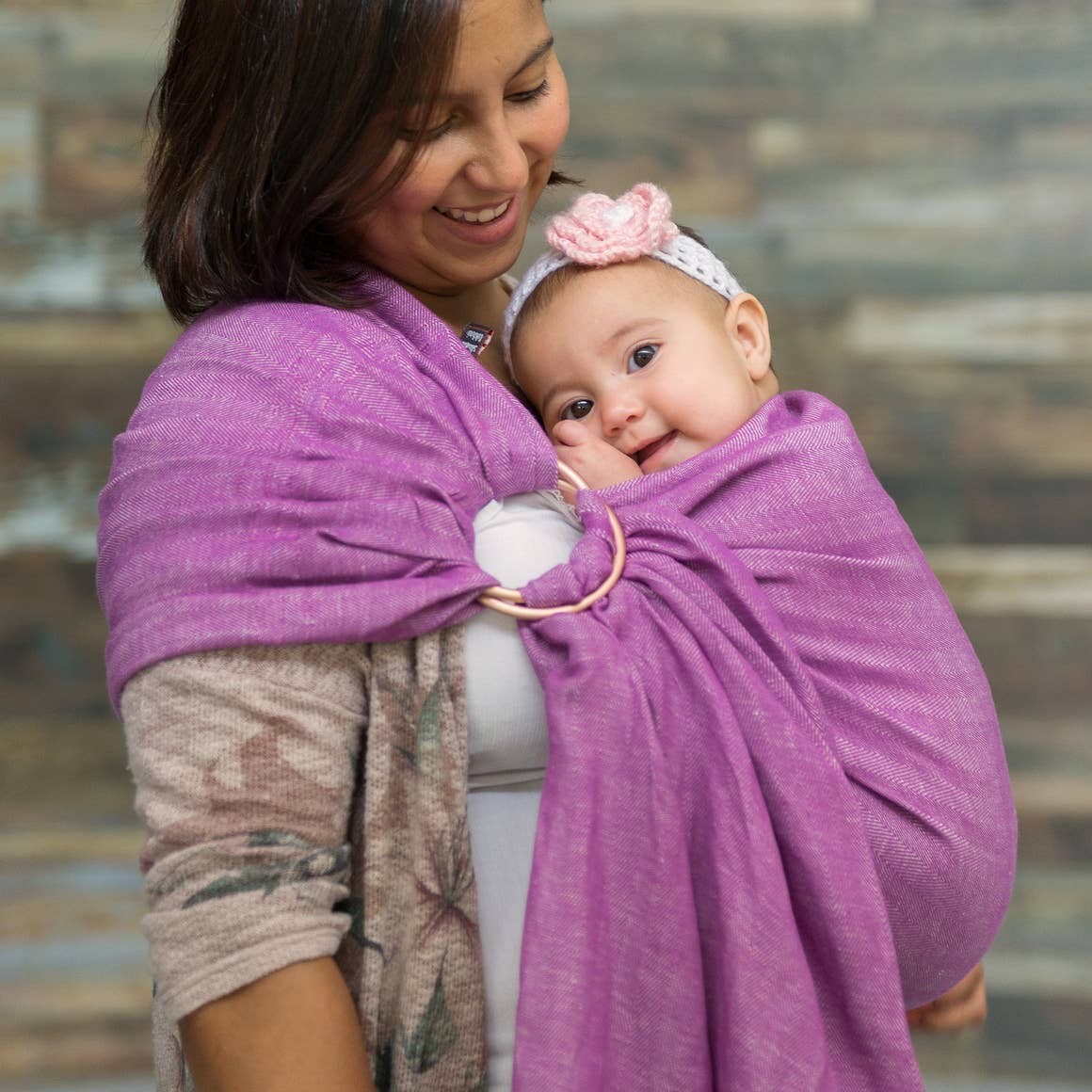 The Sling Baby Carrier | berry + rose gold
