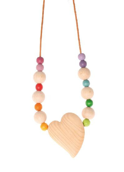 Grimm's Babywearing/Nursing Necklace with 16 Beads - Yellow Birch