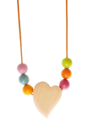 Grimm's Babywearing/Nursing Necklace with 6 Beads - Yellow Birch