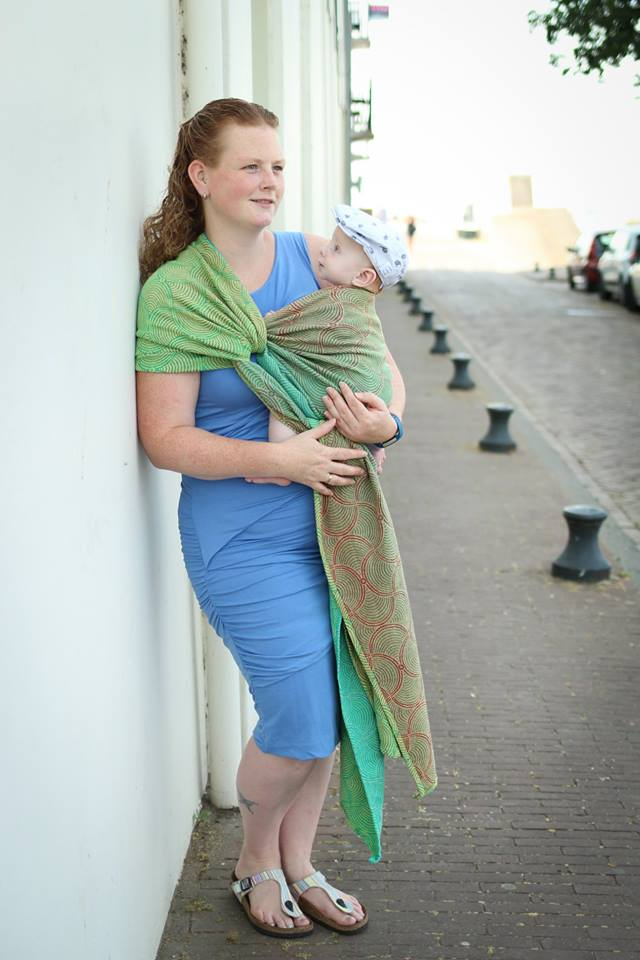 Yaro Gravity Duo Coral Reef Grad Green Organic Ring Sling - Yellow Birch