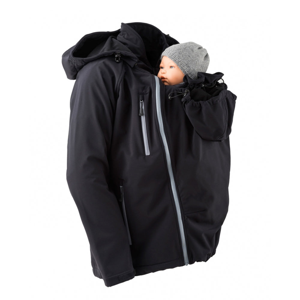 Mamalila Men's Soft Shell Babywearing Coat - Yellow Birch