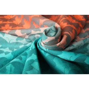 Yaro Butterflies Arctic Sunset Grad Teal Tencel Ring Sling