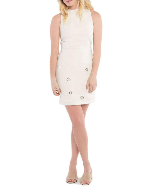 kensie Grommeted Sheath Dress French Vanilla Combo XS