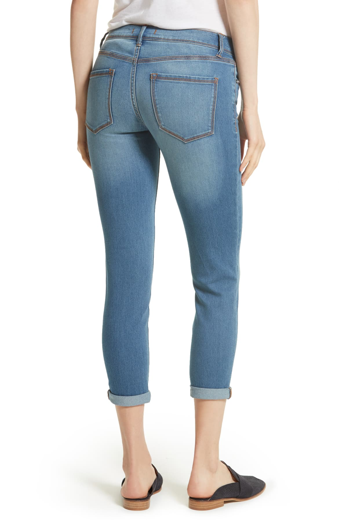 Free People Gummy High-Rise Medium Blue Wash Light Denim 24 - Gear Relapse