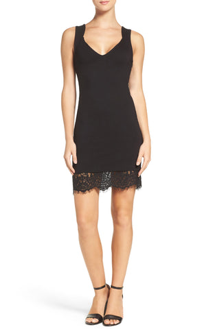 Free People Women's French Girl Contrast Mini Dress Black S
