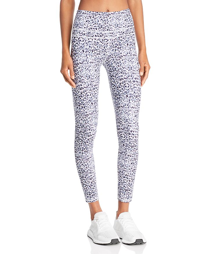 VARLEY Biona Women's Leopard Print Leggings Distorted L