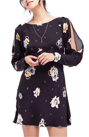 Free People 'Melanie' Floral Print Fit & Flare Dress Night Combo 0