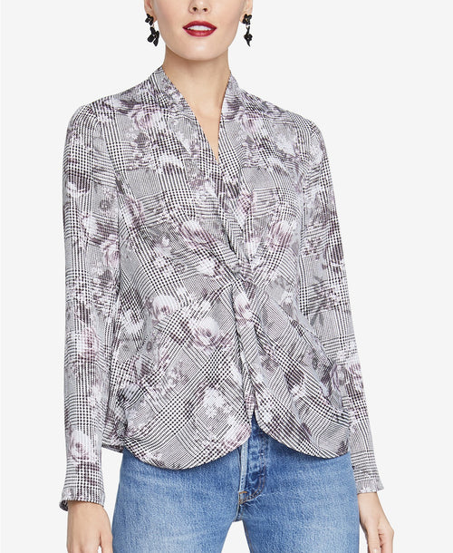 RACHEL Rachel Roy Twisted Top Grey Combo