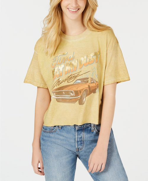 True Vintage Cotton Ford-Graphic T-Shirt Tan XL