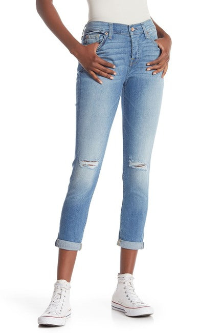 7 For All Mankind The Josefina Skinny Boyfriend Jeans Light Blue - Gear Relapse