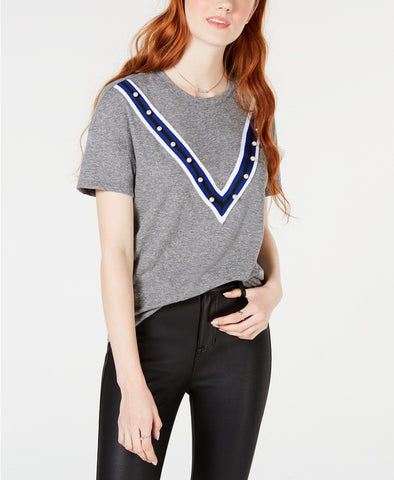 Lucky Brand Women's Border Print T-Shirt
