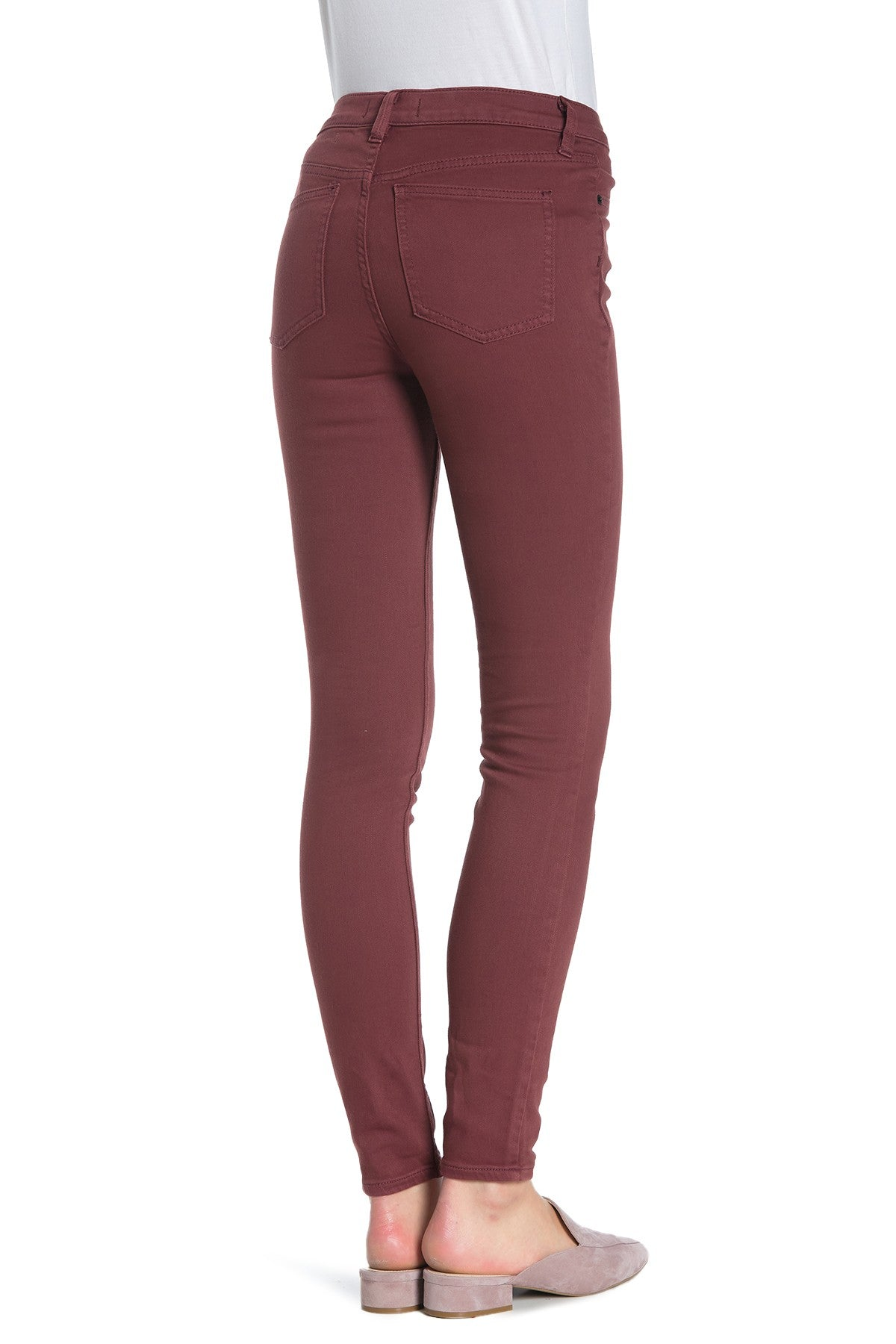 Free People Skinny High Rise Jeans Red Mocha 27 - Gear Relapse