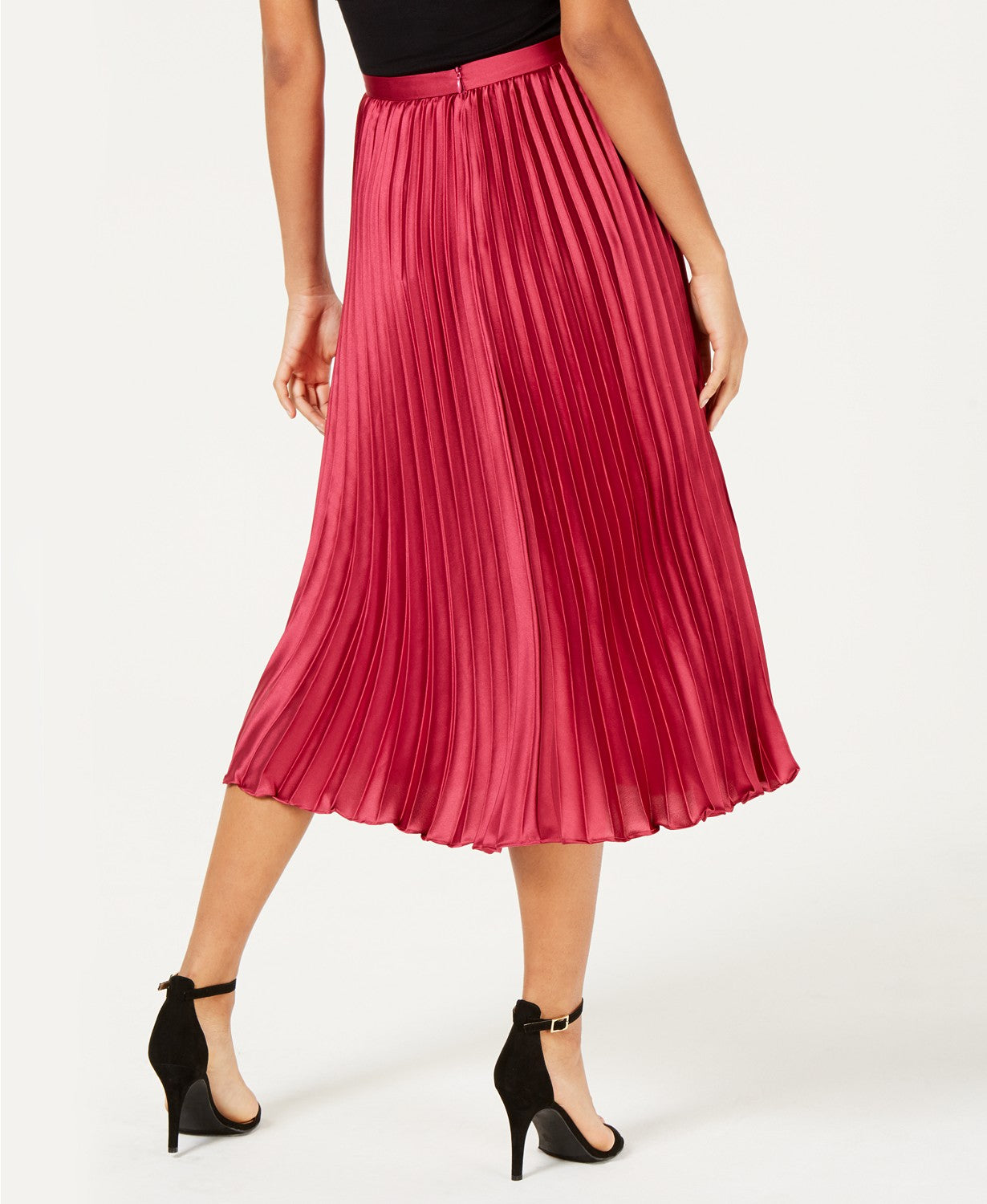Lucy Paris Talia Pleated A-Line Skirt Magenta XL