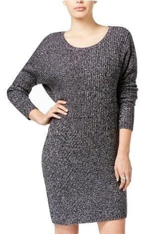 Bar III Ribbed Sweater Dress Black Combo XXL - Gear Relapse