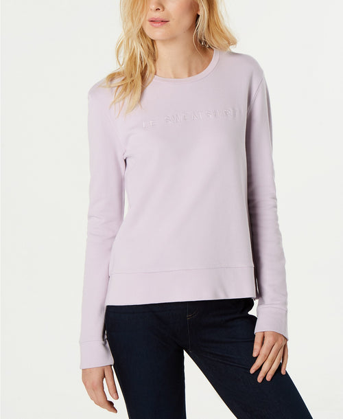 French Connection Cotton Le Sweatshirt Lavender Frost L