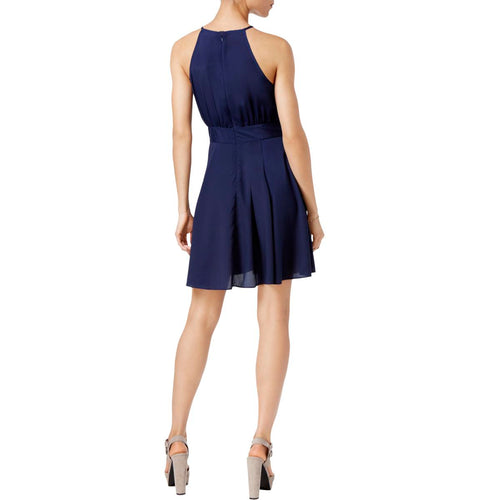 Maison Jules Kimberly Fit & Flare Dress Blu Notte XL