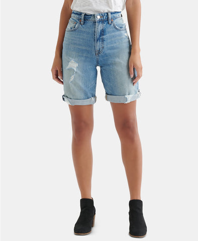 Free People Gummy Women's High-Rise Medium Blue Wash Light Denim 24