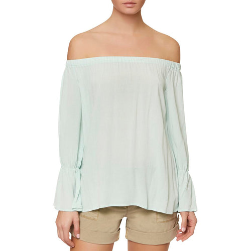 Sanctuary Off-The-Shoulder Top Mint Tea L
