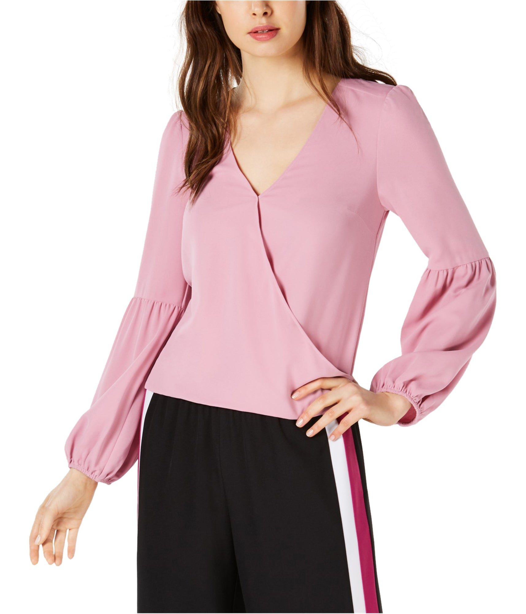 Bar III Blouson-Sleeve Surplice Top - Gear Relapse