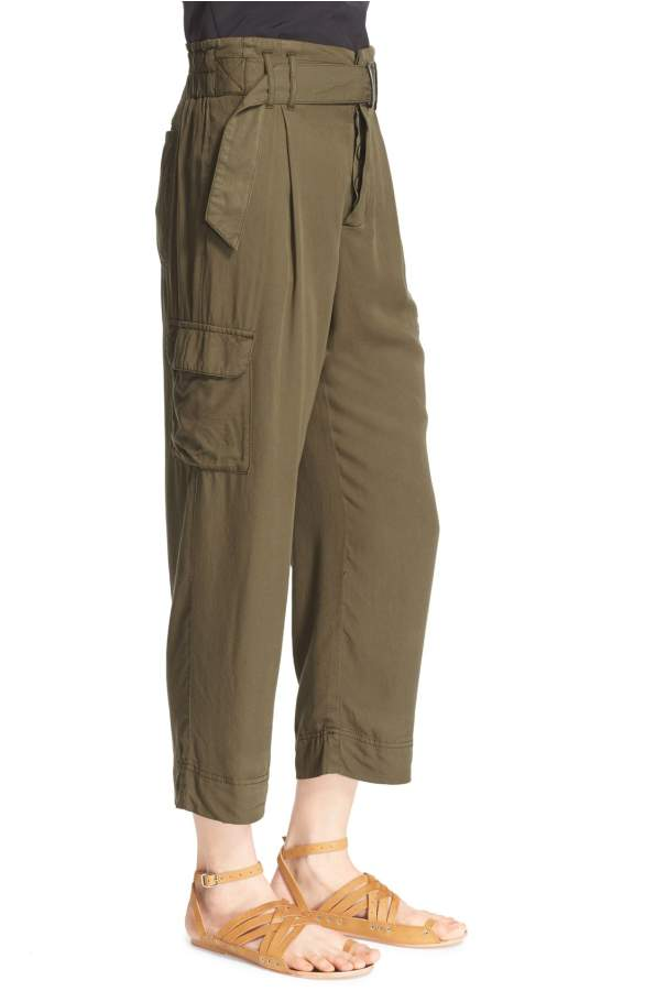 Free People High-Rise Cropped Cargo Pants Army 4 - Gear Relapse