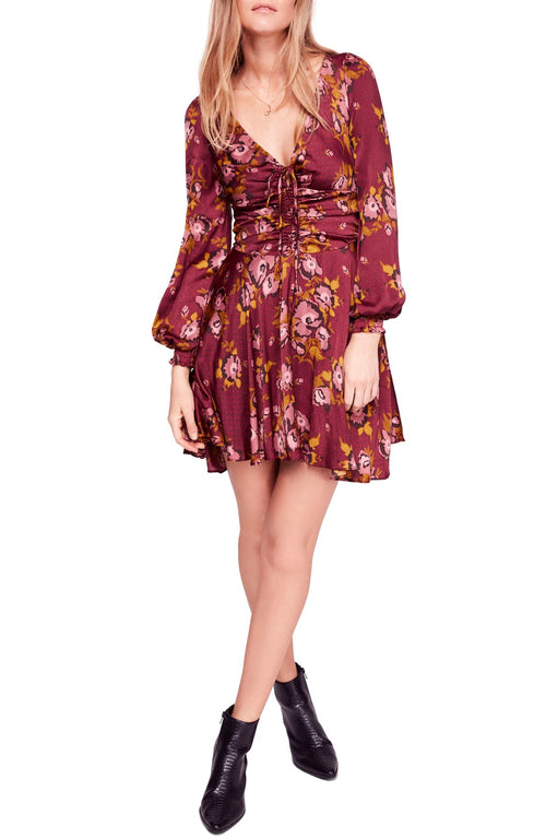 Free People Morning Light Printed Mini Dress Purple Combo 8 - Gear Relapse