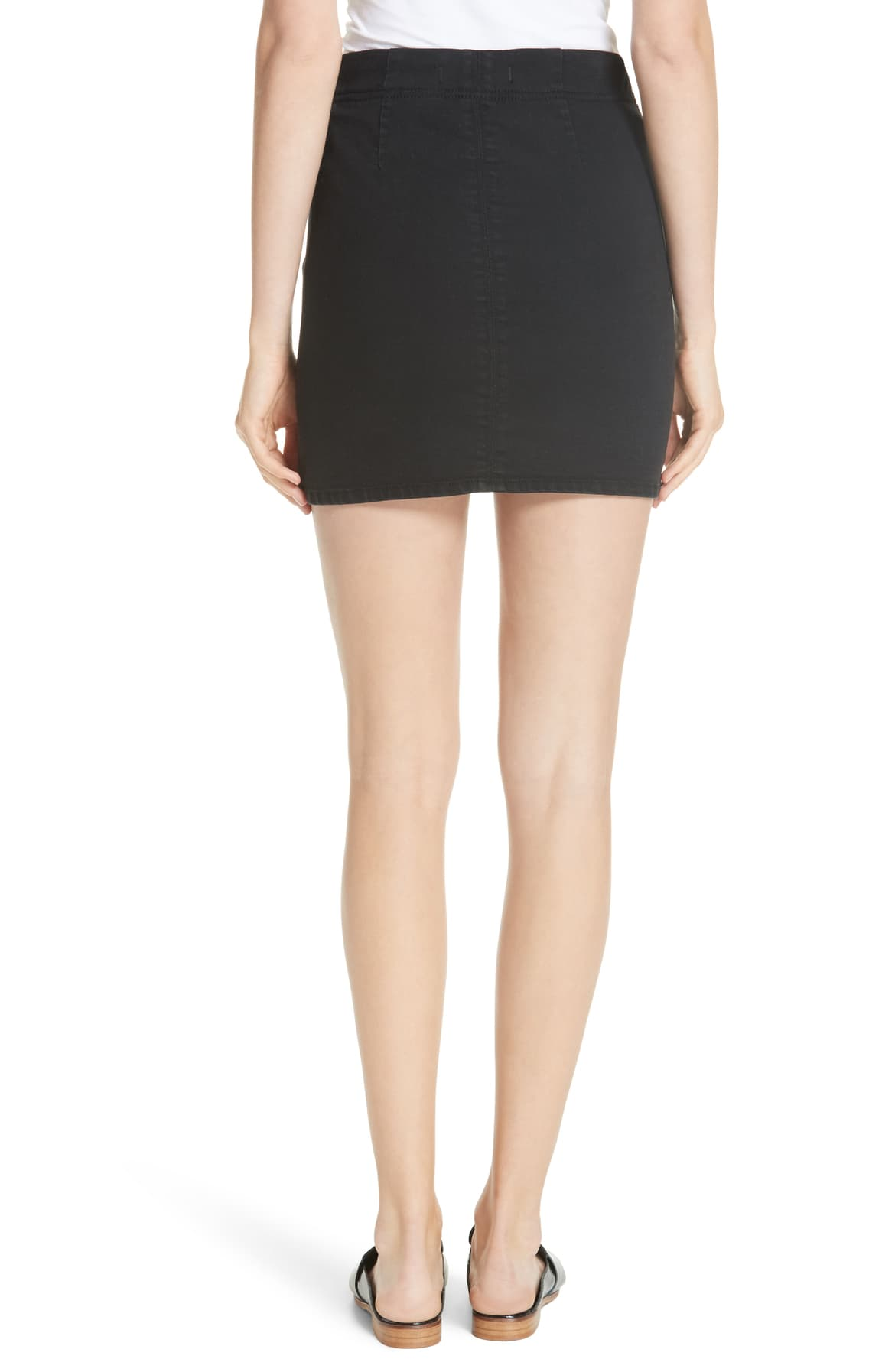 Free People Denim Mini Skirt Black L - Gear Relapse