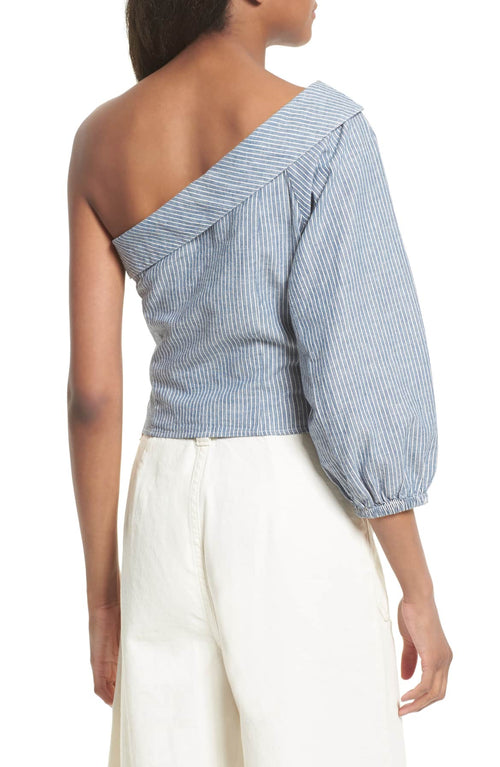 Free People Get Down Striped One-Shoulder Blue 12 - Gear Relapse