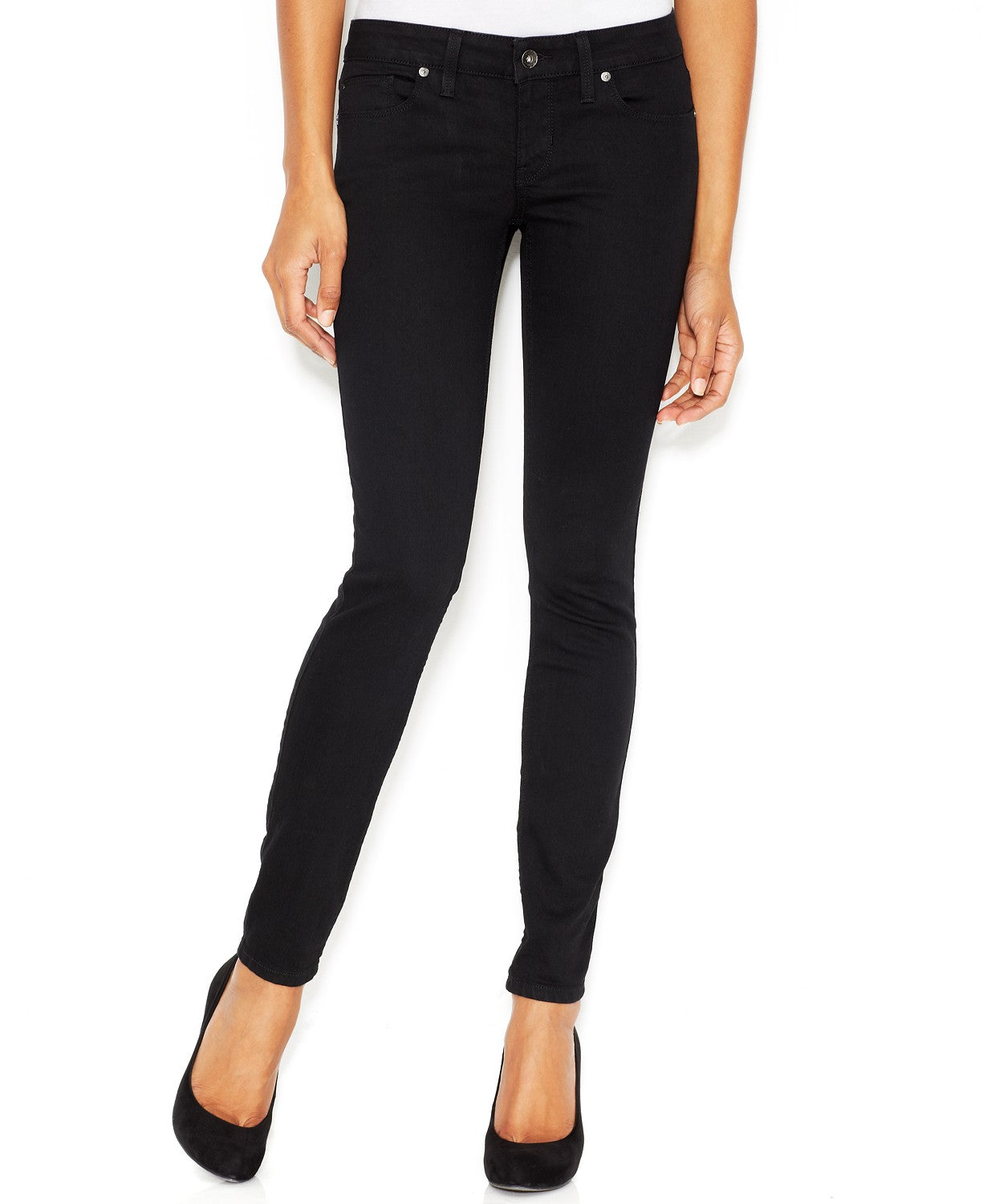 GUESS Women's Low-Rise Skinny Jeans Silicon Silicone 30