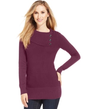 Style & Co. Women's Long Sleeve Ribbed-Knit Sweater M