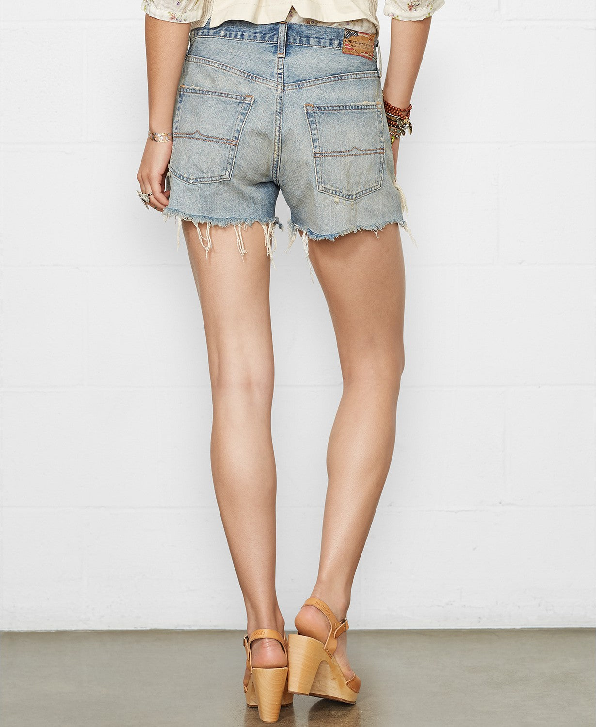 Denim & Supply Ralph Lauren Distressed Denim Boyfriend Shorts 25 - Gear Relapse