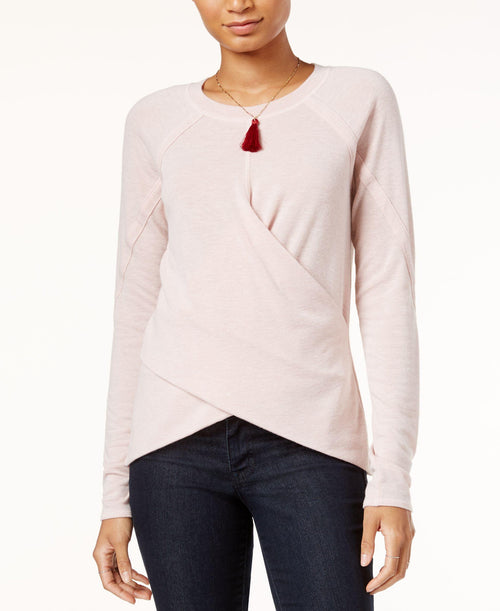 Rachel Rachel Roy Women's Gilda Colorblocked Crisscross Top Rosewater XXL