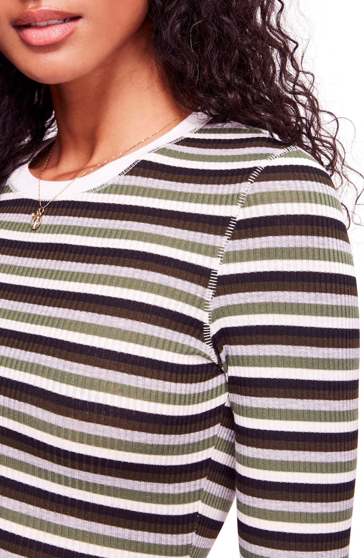Free People Good On You Striped Top Army S - Gear Relapse
