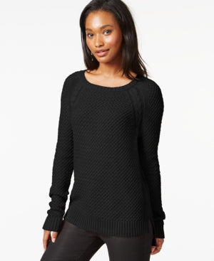 Maison Jules Women's Long Sleeve Pullover Knit Sweater