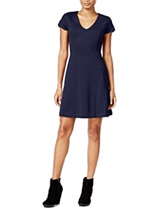 Maison Jules Short-Sleeve Fit Flare Dress