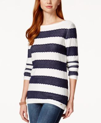 Tommy Hilfiger Long-Sleeve Striped Sweater Blue Combo S
