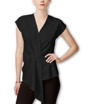 Bar III Tie-Back Keyhole Top