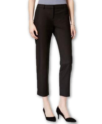 Bar III Cropped Skinny Trousers Deep Black 12