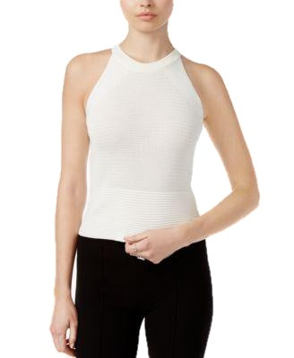 RACHEL Rachel Roy Crew-Neck Sleeveless Sweater White XXL