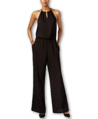 Bar III Cold-Shoulder Top Deep Black