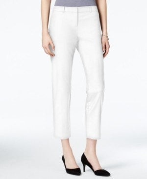 Bar III Cropped Skinny Trousers Washed White 6