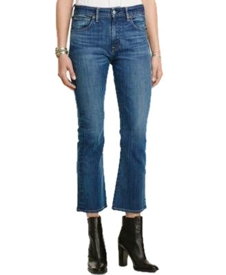 Denim & Supply Ralph Lauren Kenmore Cropped Flared Blue Denim - Gear Relapse