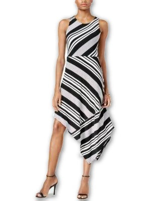 Bar III Mixed-Stripe Bodycon Midi Dress Black Combo - Gear Relapse