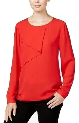 Bar III Long-Sleeve Overlay Top