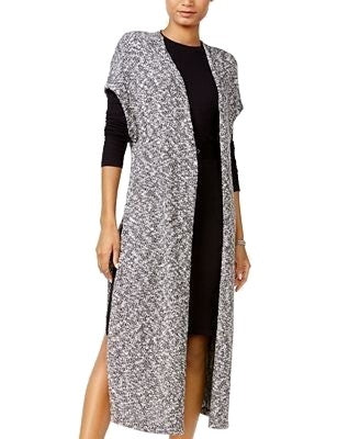 chelsea sky Marled Duster Cardigan Natural Black XL